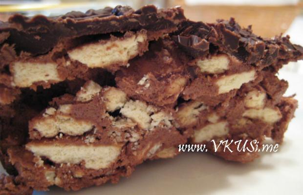 Лесна бисквитена торта с шоколад