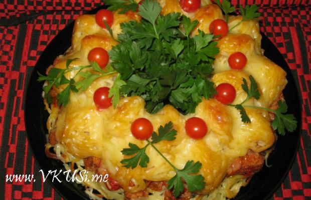 Спагети-кекс ''Болонезе''