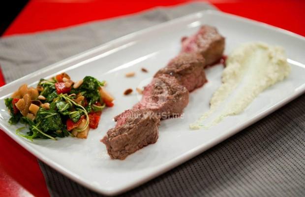 Филе от говеждо месо с пюре от артишок