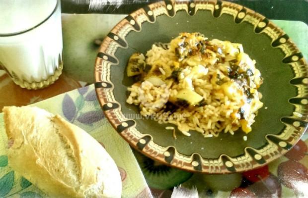Картофи с ориз на фурна