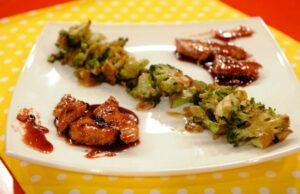Медeно пиле с броколи