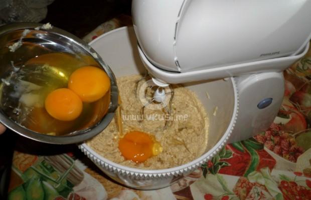 Бейкуел кейк с праскови и боровинки