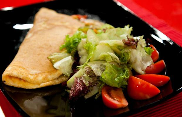 Зеленчуково предложение в омлет с пармезан