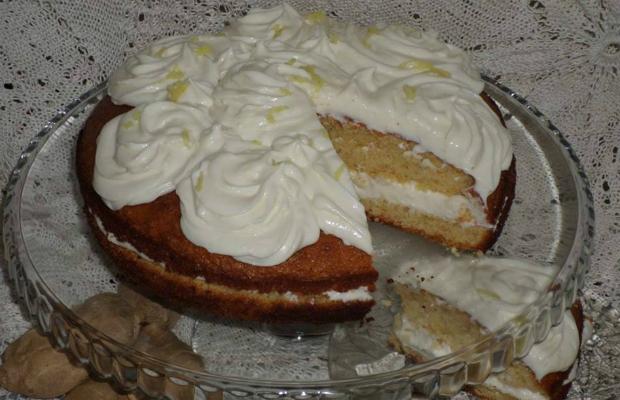 Бадемова торта с джинджифилов крем