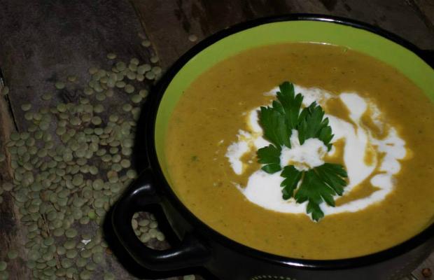 Крем супа от зелена леща