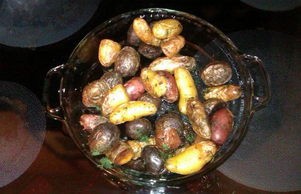 Шарени американски задушени картофки