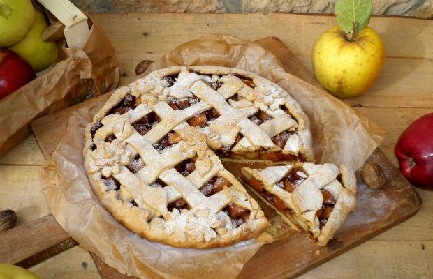 Резултат с изображение за пай с ябълки