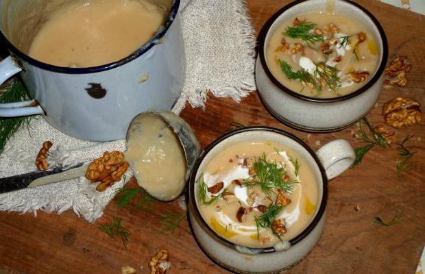 Крем супа от целина и дюля