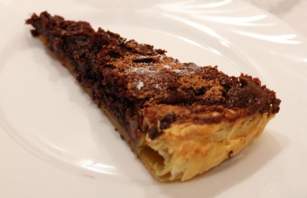 Шоколадов тарт с бутер тесто