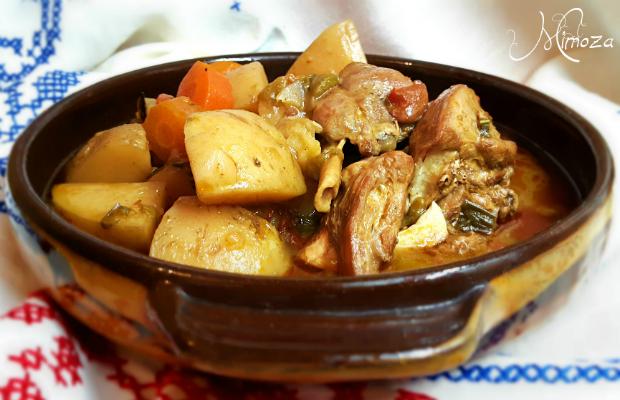 Заешка яхния със зеленчуци