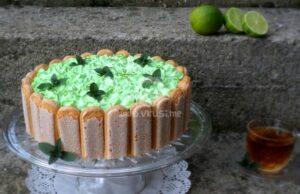 Бишкотена торта с авокадо крем и лайм