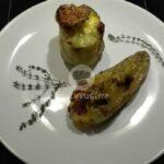 Пълнени чушки с яйца, сирене и кашкавал