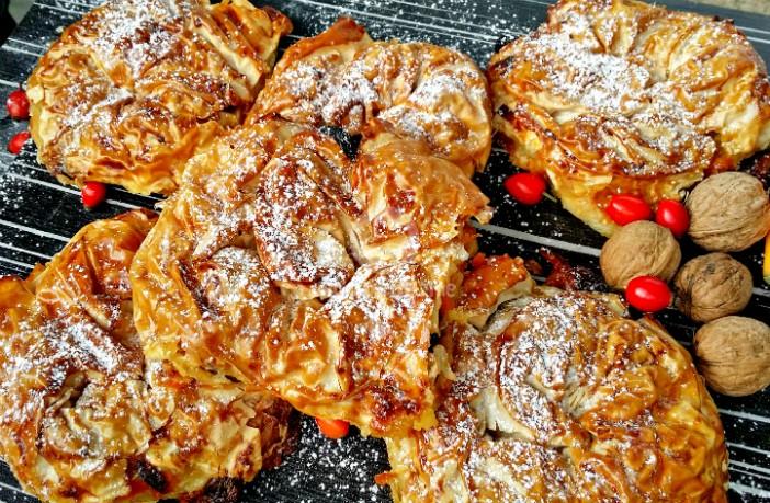 Печени сладки картофи с бекон и кашкавал