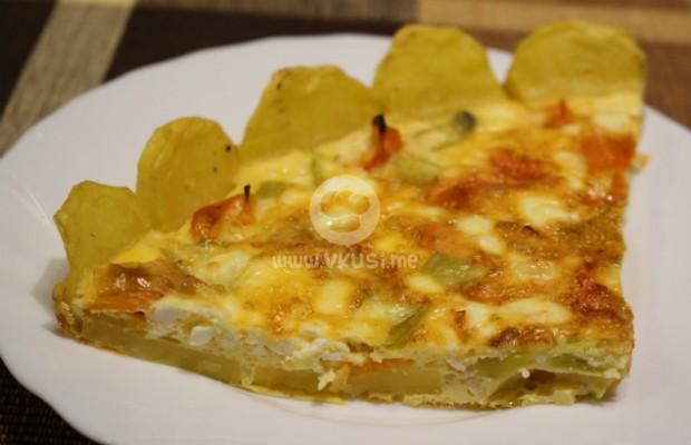Омлет с картофи на фурна
