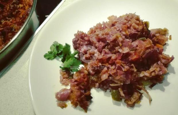 Три вида зеле с ориз на фурна