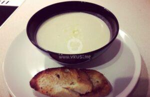 Лучена крем супа с ементал