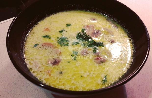 Гъбена супа с праз и картофи