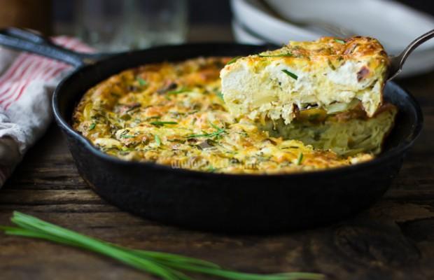 Ароматен киш с картофи и лук