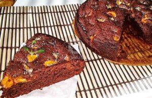 Сладкиш с хляб и нектарини