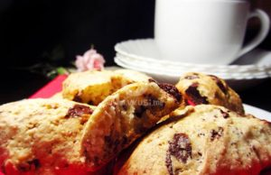 Шоколадови бисквитки с кокос