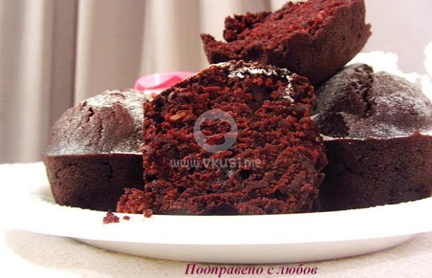 Веган шоколадови кексчета (без яйца и мляко)