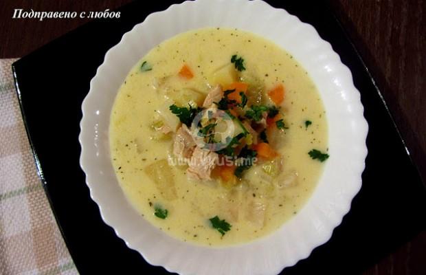 Белгийска пилешка супа