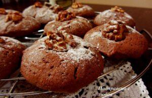 Домашни какаови бисквитки с орехи