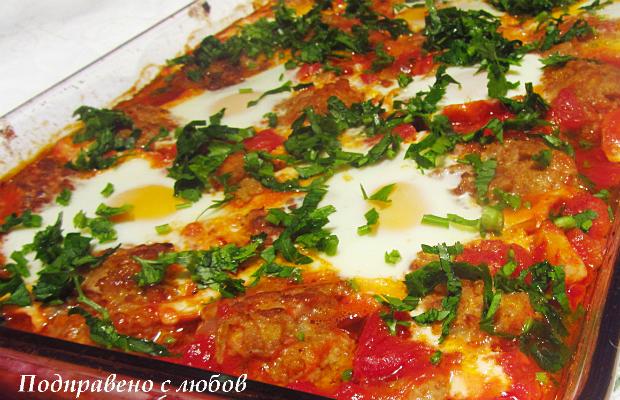 Мини кюфтенца по марокански с доматен сос
