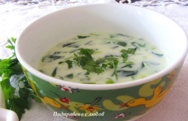 Млечна супа с левурда