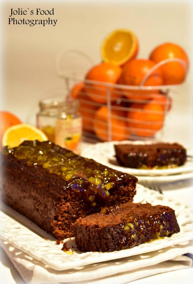 Брауни кекс с портокалово сладко