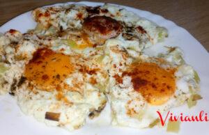Яйца с праз лук и сирене