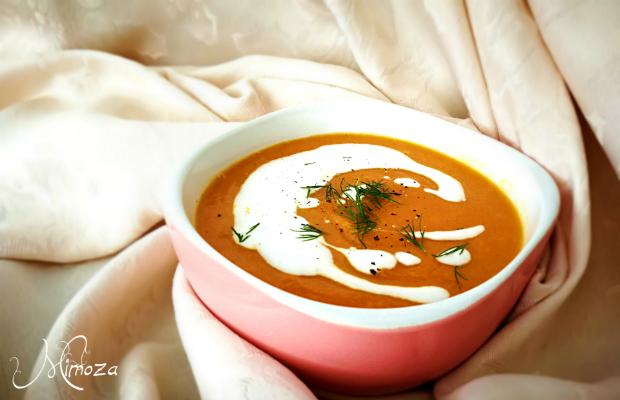 Морковена крем супа с джинджифил и кокосово масло