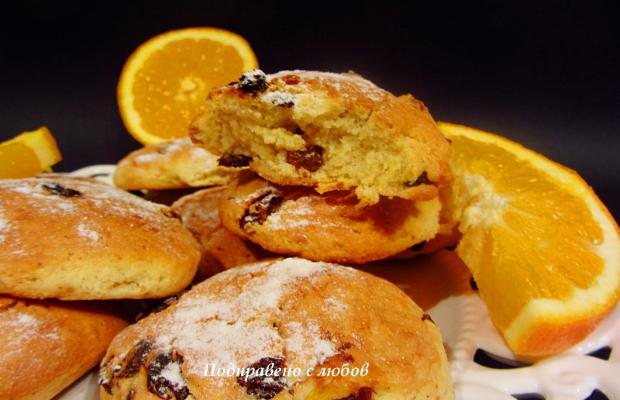 Портокалови сладки със стафиди