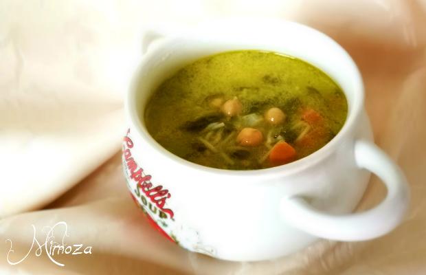 Постна лимонова супа с нахут