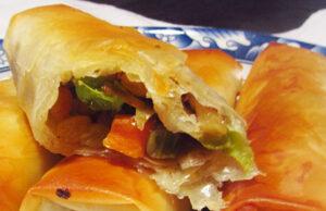 Постни банички със зеленчуци и орехи