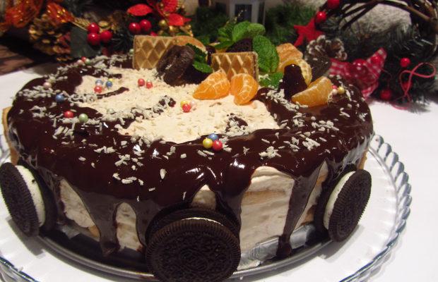 Бишкотена торта с банани и маскарпоне