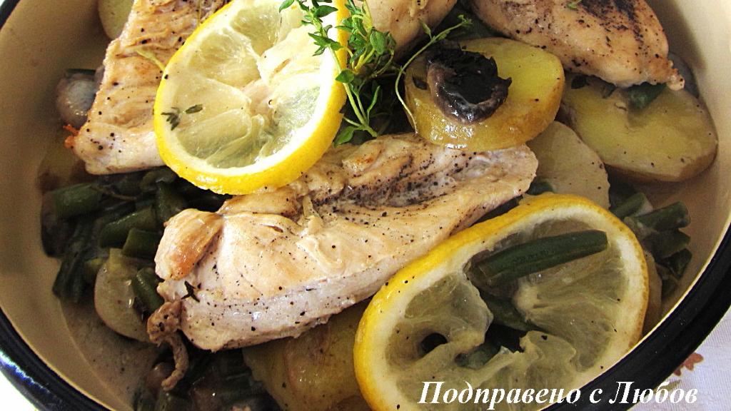 Лимоново пиле с мащерка