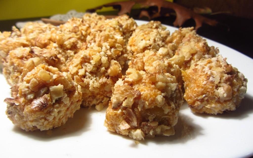 Бонбони с тиква, кокос и сусамов тахан