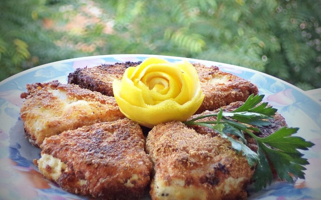 Сиренца пане с картофено пюре