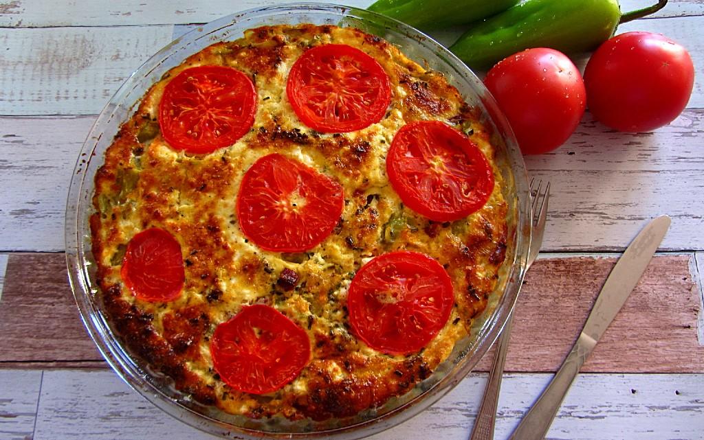 Фритата с шунка и зеленчуци