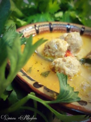 Зеленчукова супа с топчета