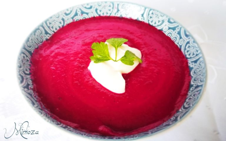 Крем супа с червено цвекло