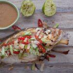 Печена риба по балийски