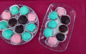 Бонбони с бисквити без печене
