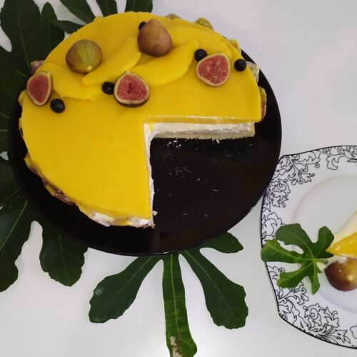 Мус торта с манго и смокини